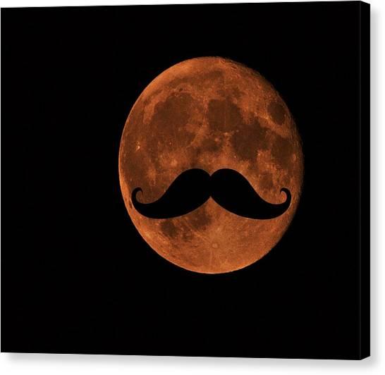 Mustache Moon Canvas Print