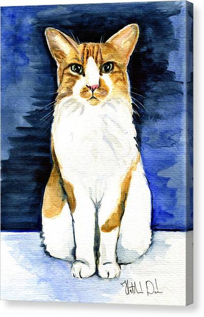 Mustached Bicolor Beauty - Cat Portrait Canvas Print