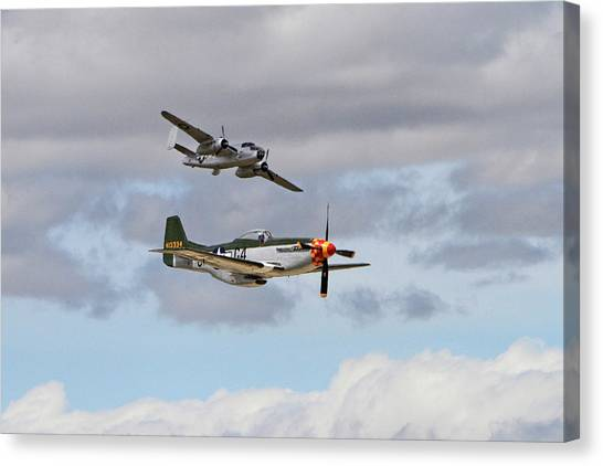 Wii Canvas Print - Mustang And Mitchell by Shoal Hollingsworth