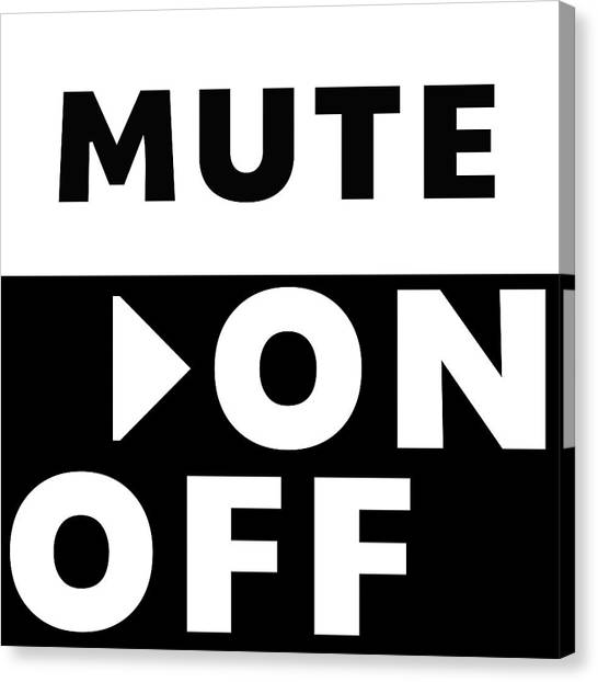 Playstation Canvas Print - Mute On Off- Art By Linda Woods by Linda Woods