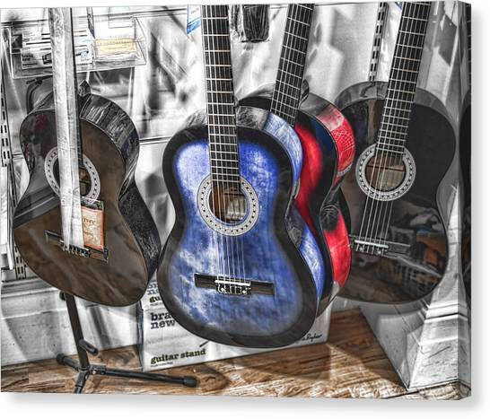 Muted Guitars Canvas Print