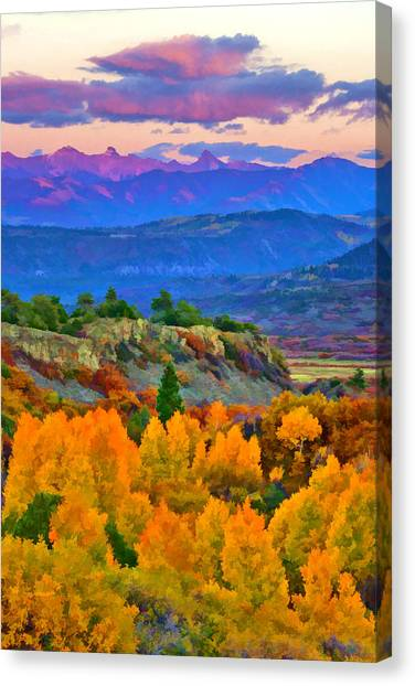 Muted Sunset Colors Of Autumn Canvas Print