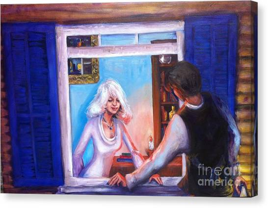 Intimate Conversation Canvas Print