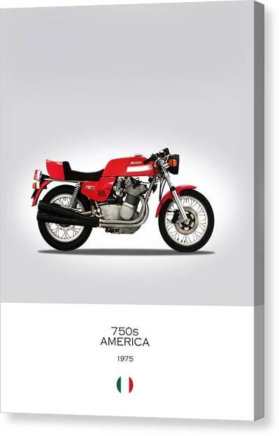 Mv Canvas Print - Mv Agusta 750 S America by Mark Rogan