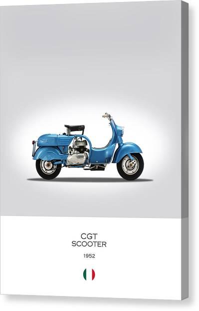 Mv Canvas Print - Mv Agusta Scooter by Mark Rogan