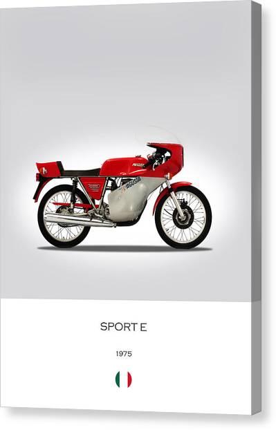Mv Canvas Print - Mv Agusta Sport E by Mark Rogan