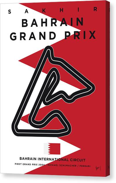 Formula Car Canvas Print - My 2017 Bahrain Grand Prix Minimal Poster by Chungkong Art