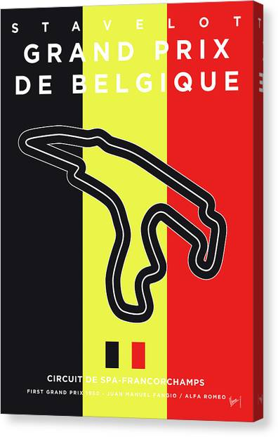 Formula Car Canvas Print - My 2017 Grand Prix De Belgique Minimal Poster by Chungkong Art