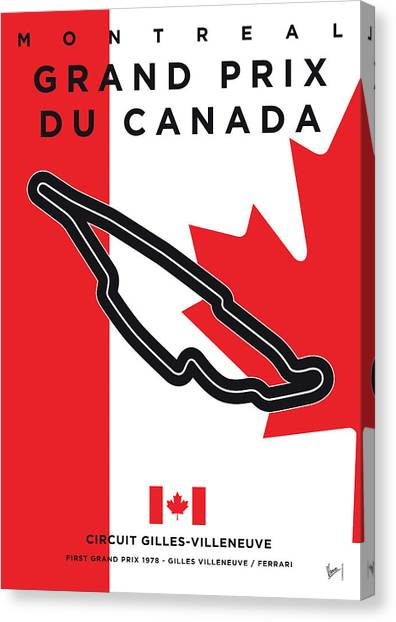 Formula Car Canvas Print - My 2017 Grand Prix De Canada Minimal Poster by Chungkong Art