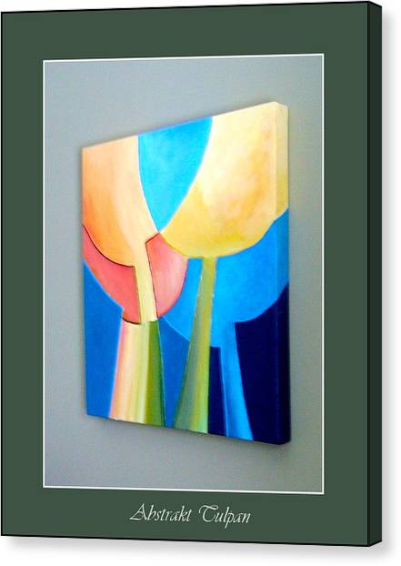 My Abstract Tulip Canvas Print by Carola Ann-Margret Forsberg