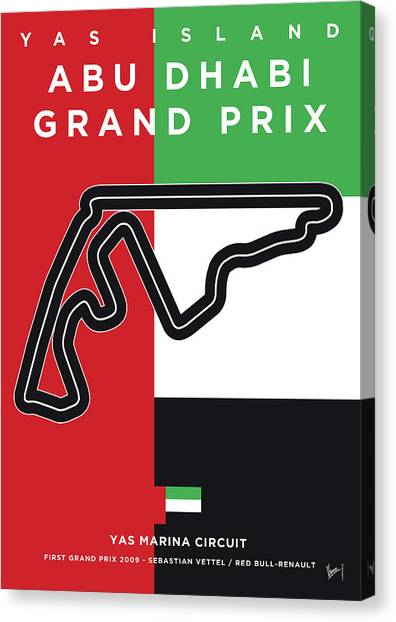 Marinas Canvas Print - My Abu Dhabi Grand Prix Minimal Poster by Chungkong Art