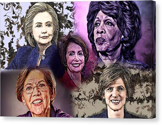 Nancy Pelosi Canvas Print - My American Heroes  by Artful Oasis