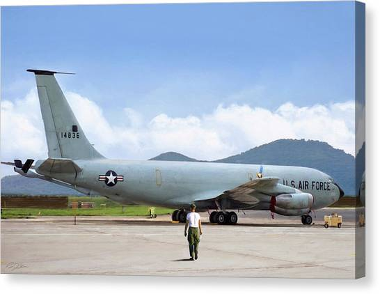 Vietnam War Canvas Print - My Baby Kc-135 by Peter Chilelli