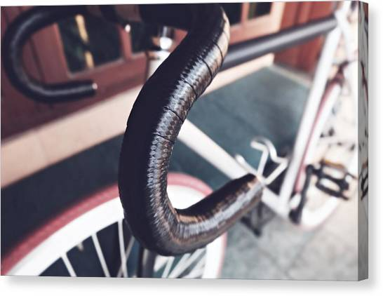 Extreme Sports Canvas Print - My Bicycle Custom by Shely Prism