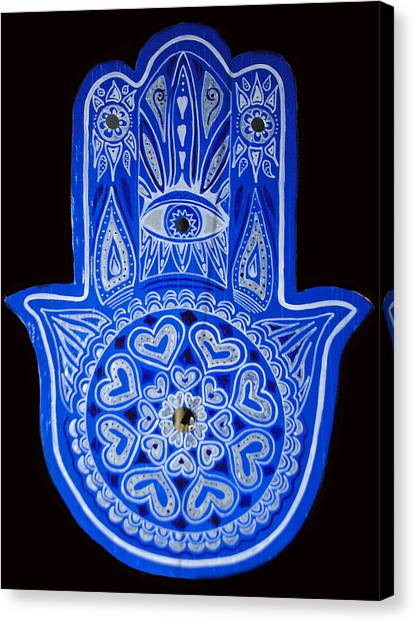My Blue Hamsa Canvas Print