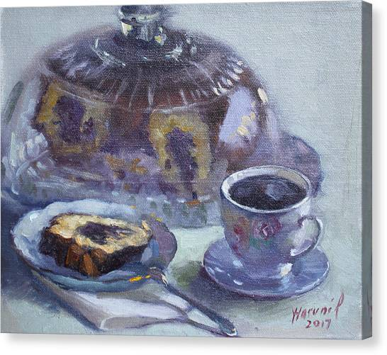 Cakes Canvas Print - My Breakfast At Lida's by Ylli Haruni