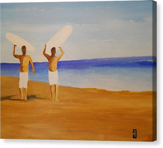 my brother and I Canvas Print by Fred Reid