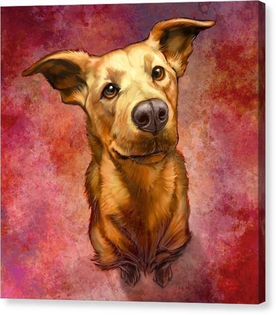 Portrait Canvas Print - My Buddy by Sean ODaniels