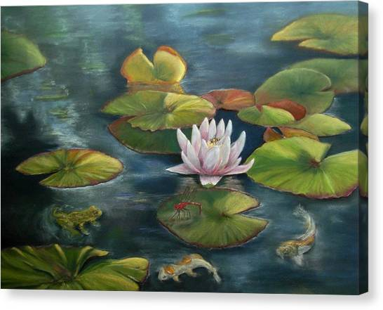 My Busy Lilly Pond Canvas Print