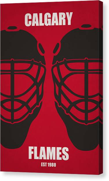 Calgary Flames Canvas Print - My Calgary Flames by Joe Hamilton