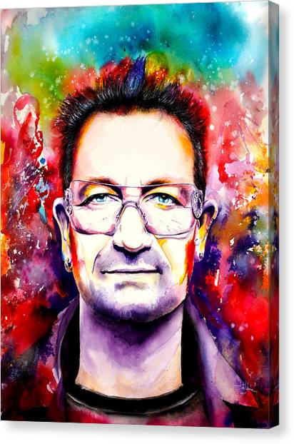 Bono Canvas Print - My Colors For Bono by Isabel Salvador
