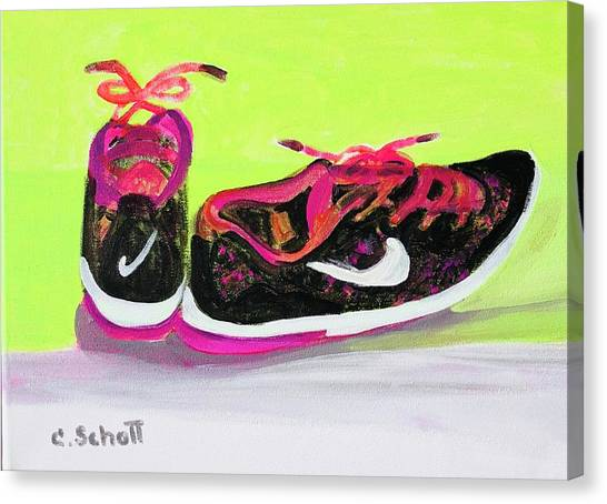 My Comfy Shoes Canvas Print