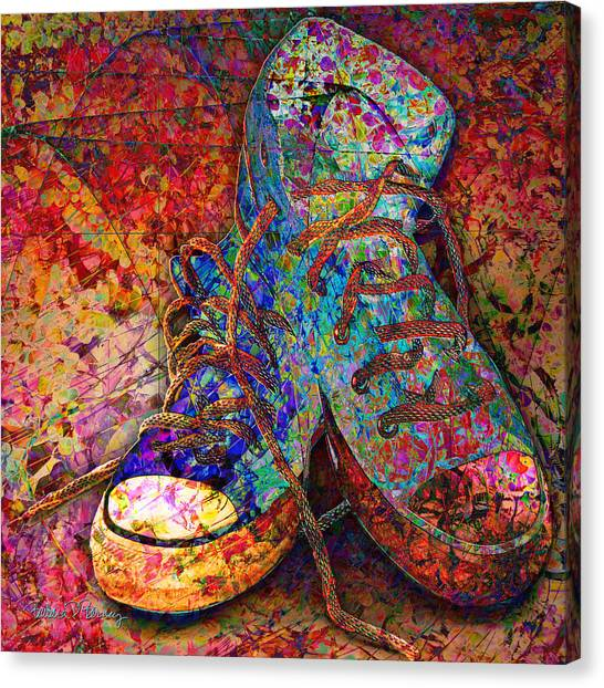 My Cool Sneakers Canvas Print