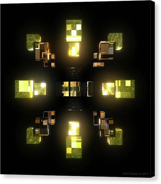 Canvas Print - My Cubed Mind - Frame 100 by Jules Gompertz