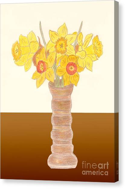 My Daffodils Canvas Print