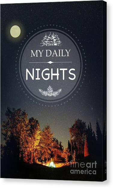 Outdoors Canvas Print - My Daily Nights by Jean Plout