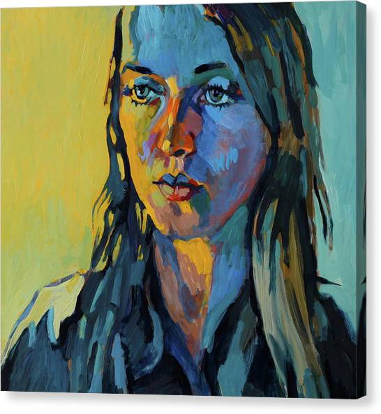 My Daughter Zosia Canvas Print by Piotr Antonow