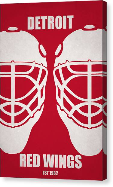 Detroit Red Wings Canvas Print - My Detroit Red Wings by Joe Hamilton