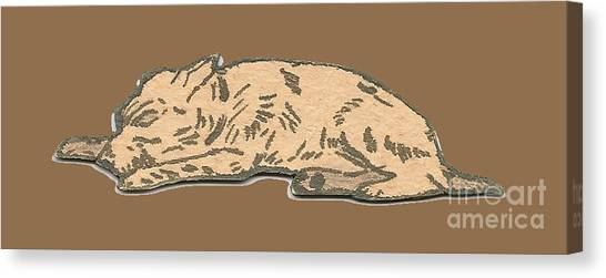 My Dog Tricksy Sleeping Canvas Print