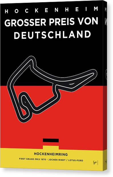 Russian Canvas Print - My F1 Germany Race Track Minimal Poster by Chungkong Art