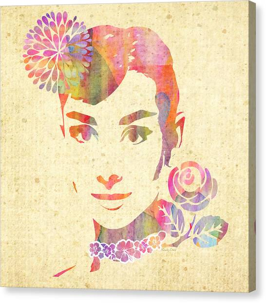 Hepburn Canvas Print - My Fair Lady - Audrey Hepburn by Stacey Chiew