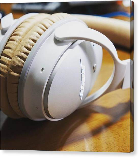 Headphones Canvas Print - My Favorite by Takatsugu Hirai