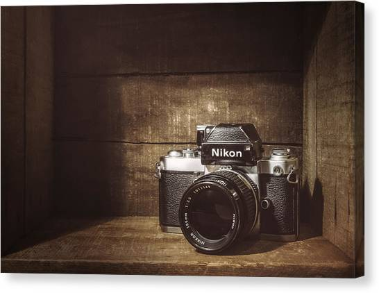 Black Top Canvas Print - My First Nikon Camera by Scott Norris