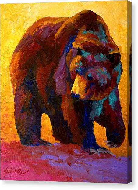 Alaska Canvas Print - My Fish - Grizzly Bear by Marion Rose