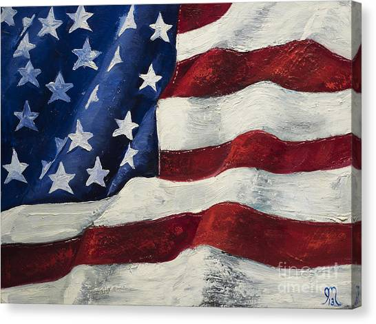 American Flag Canvas Print - My Flag by Jodi Monahan