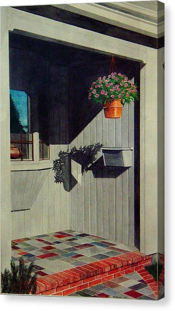 My Front Porch Canvas Print by Ron Sylvia