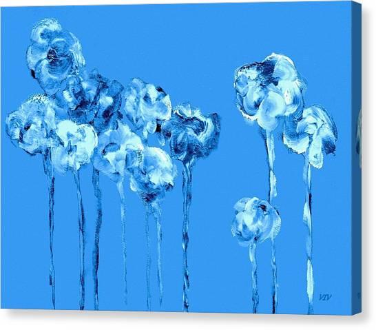 My Garden - Blue Canvas Print