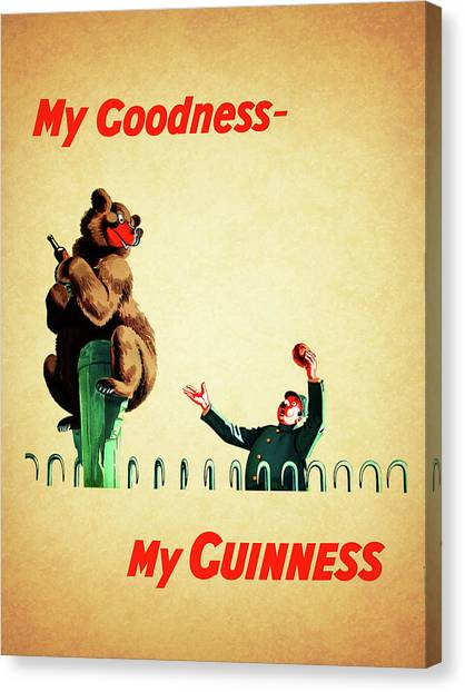 Beer Canvas Print - My Goodness My Guinness 2 by Mark Rogan