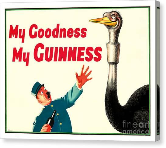 St. Patricks Day Canvas Print - My Goodness My Guinness by Jon Neidert