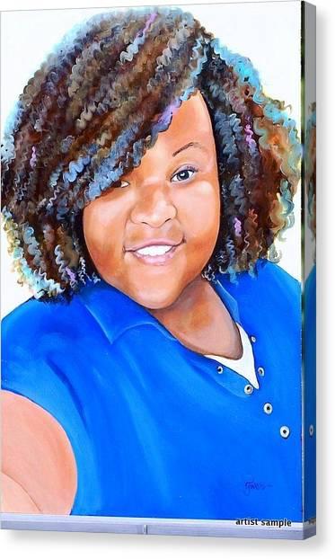 My Goodness  Selfie Canvas Print