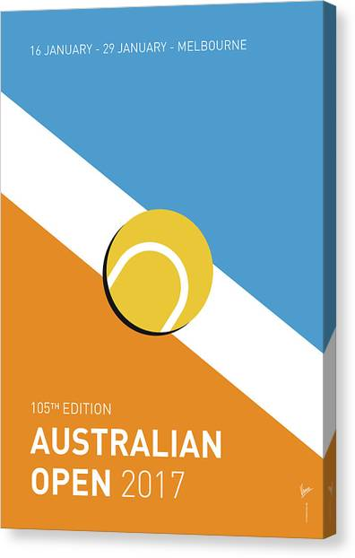 Ace Canvas Print - My Grand Slam 01 Australian Open 2017 Minimal Poster by Chungkong Art