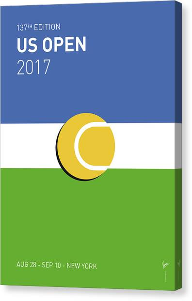 Australian Canvas Print - My Grand Slam 04 Us Open 2017 Minimal Poster by Chungkong Art