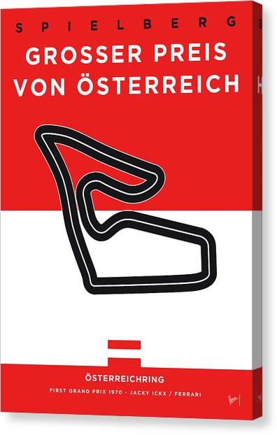 Limited Edition Canvas Print - My Grosser Preis Von Osterreich Minimal Poster by Chungkong Art