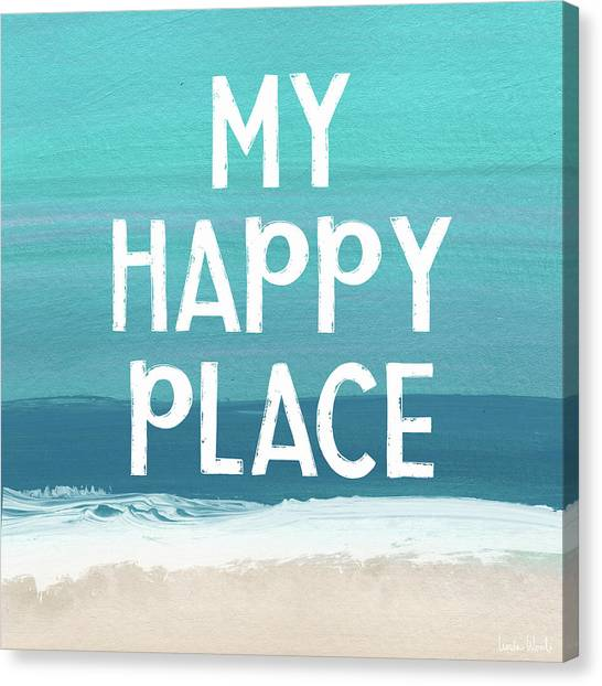 Places Canvas Print - My Happy Place Beach- Art By Linda Woods by Linda Woods