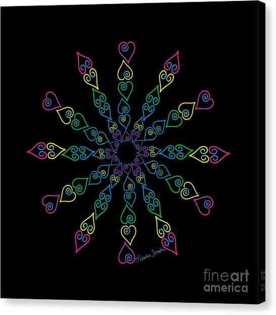 My Heart Flip Flops Canvas Print