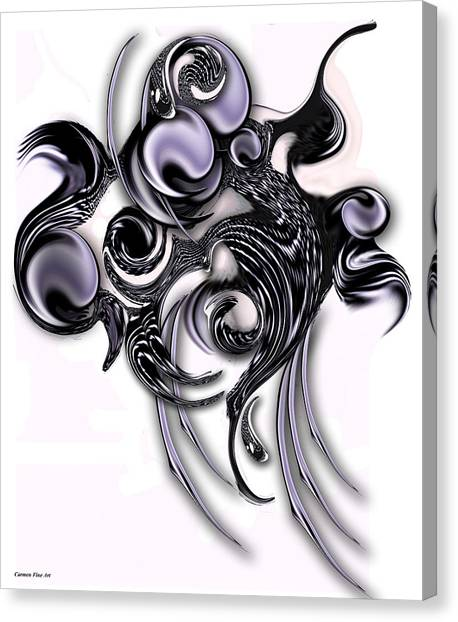 Canvas Print featuring the digital art My High Compilation by Carmen Fine Art
